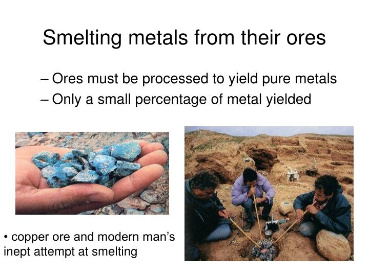 Smelting metals from their ores