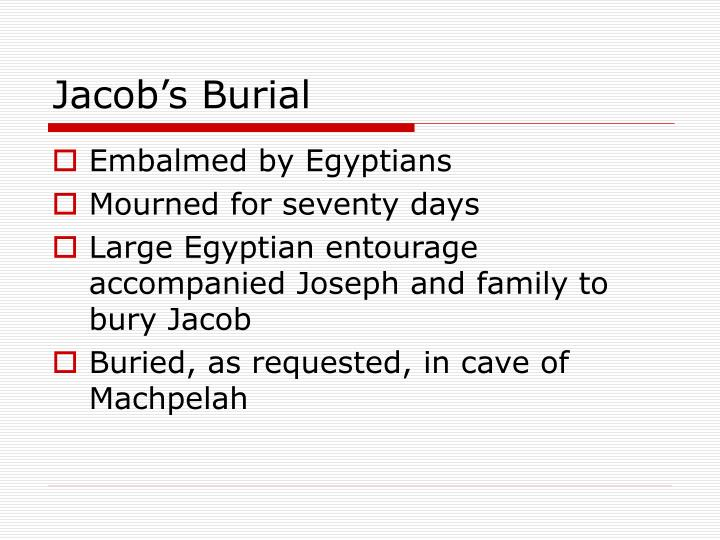 Jacob's Burial