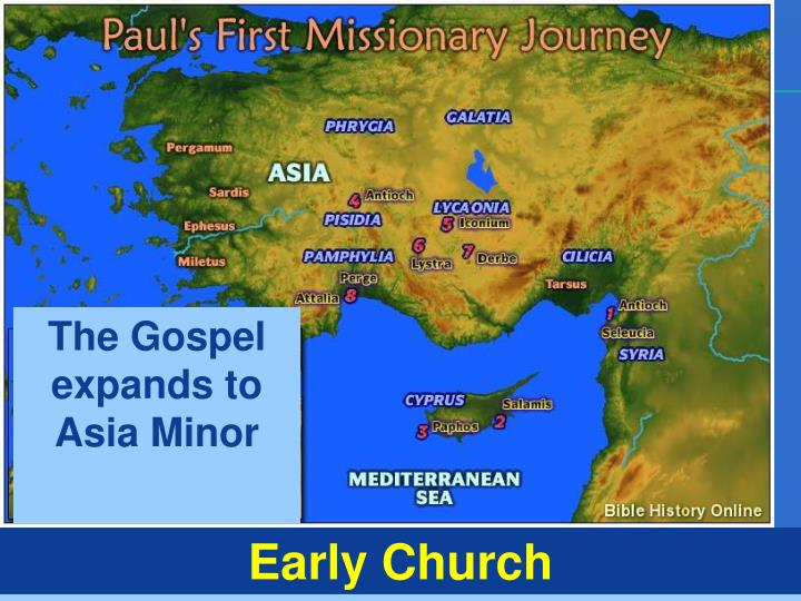 The Gospel expands to Asia Minor