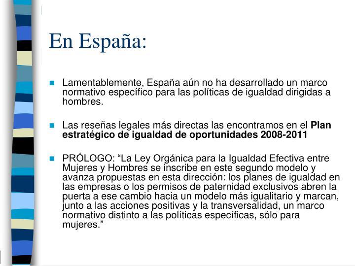 En España: