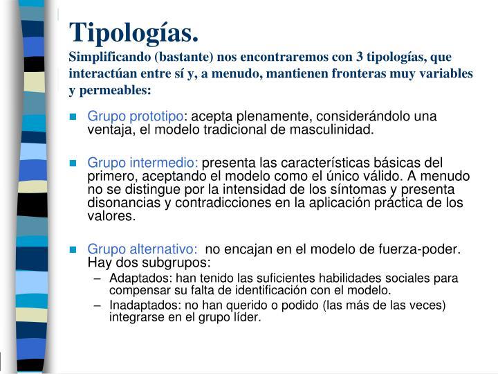 Tipologías.
