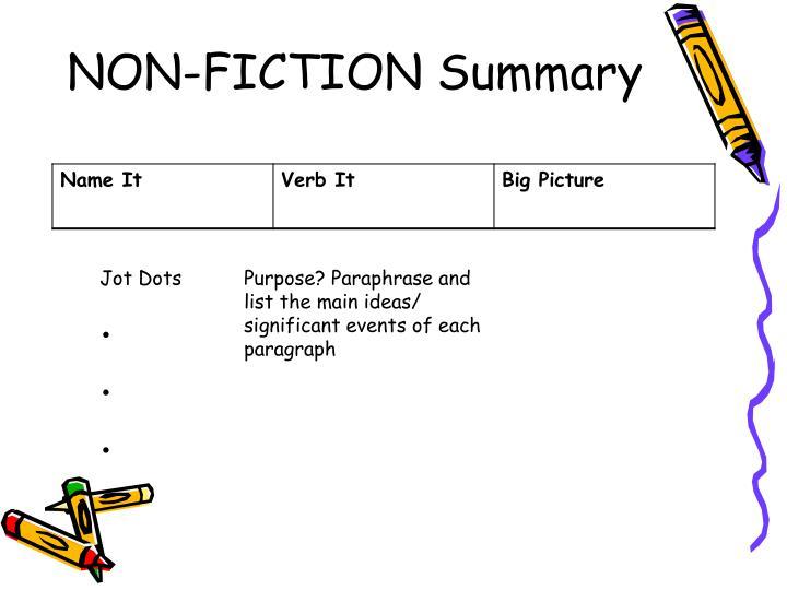 NON-FICTION Summary