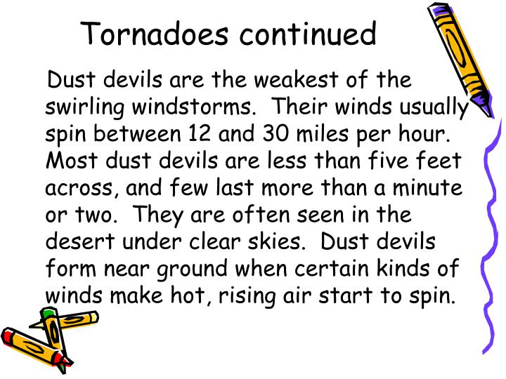 Tornadoes continued