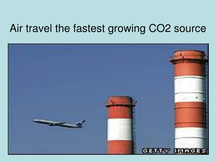 Air travel the fastest growing CO2 source