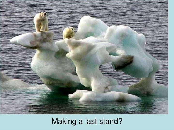 Making a last stand?
