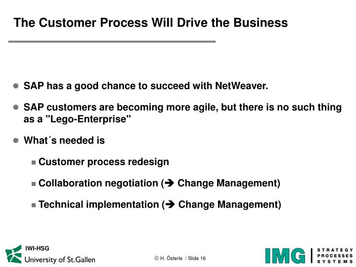The Customer Process Will Drive the Business