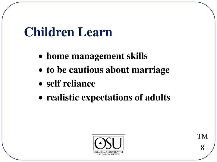 Children Learn