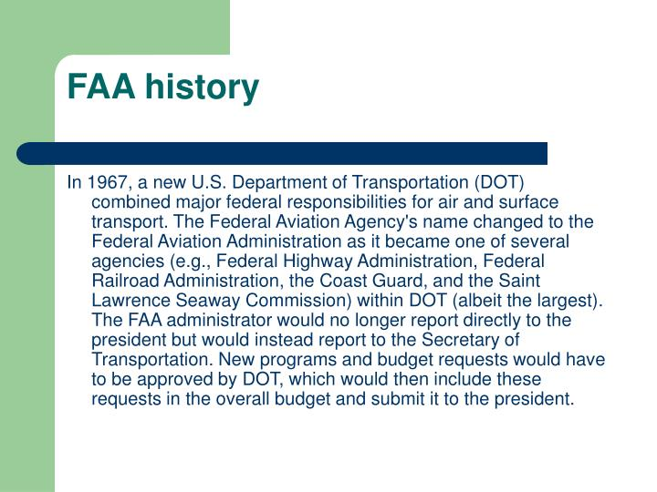 FAA history