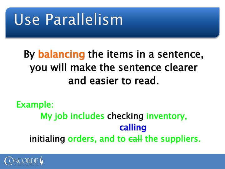 Use parallelism