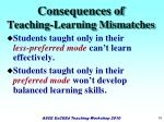 consequences of teaching learning mismatches