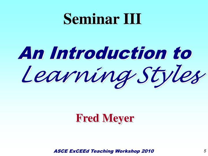 Seminar III