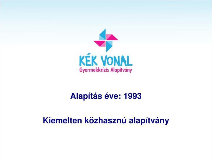Alapítás éve: 1993