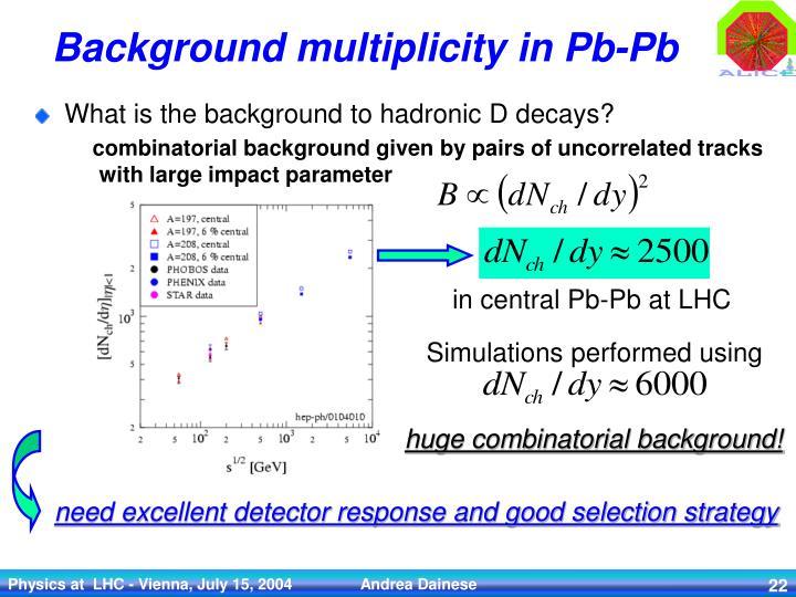 Background multiplicity in Pb-Pb