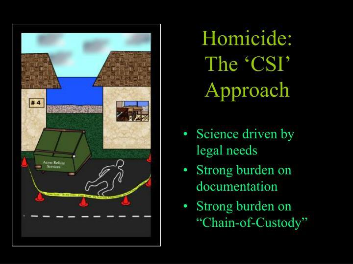 Homicide: