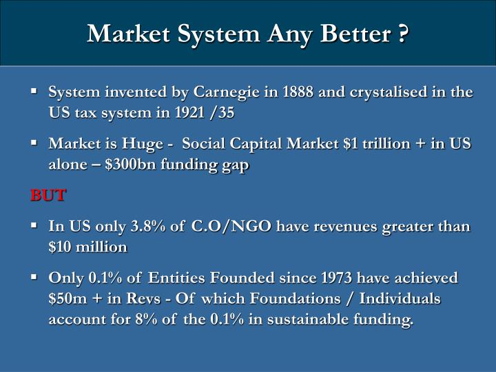 Market System Any Better ?