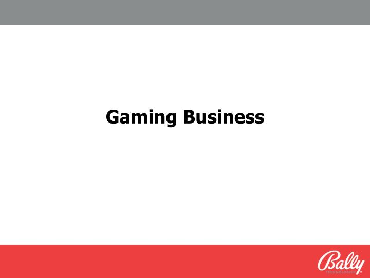 Gaming Business