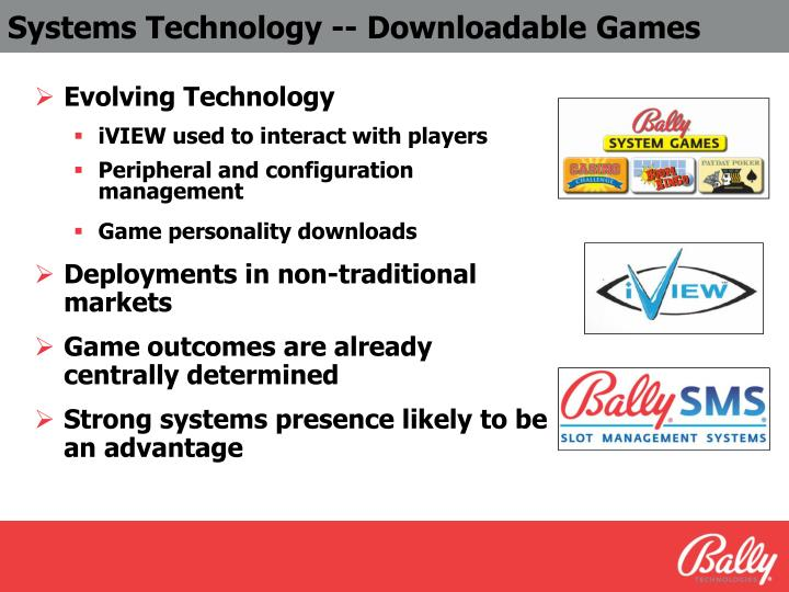 Systems Technology -- Downloadable Games
