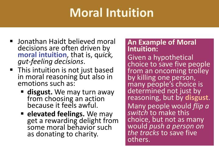 Moral Intuition