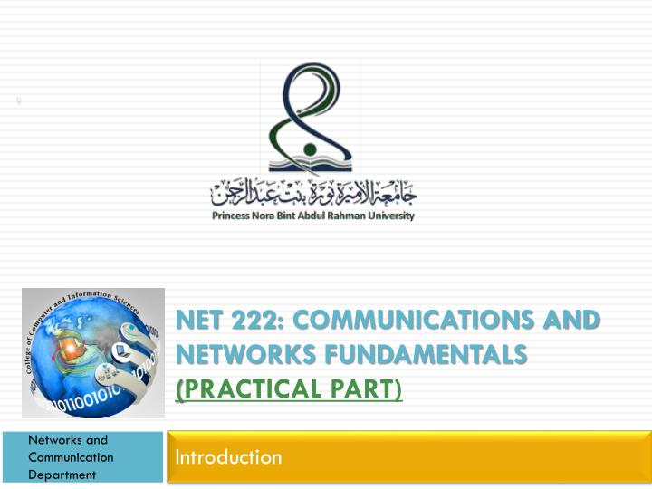 Net 222 communications and networks fundamentals practical part