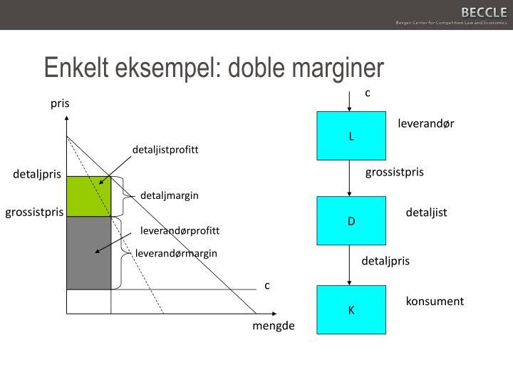 Enkelt eksempel: doble marginer