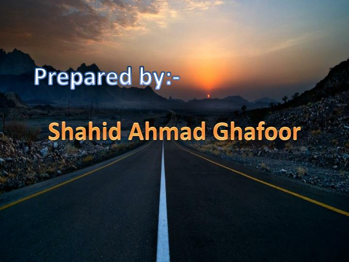 Prepared by:-