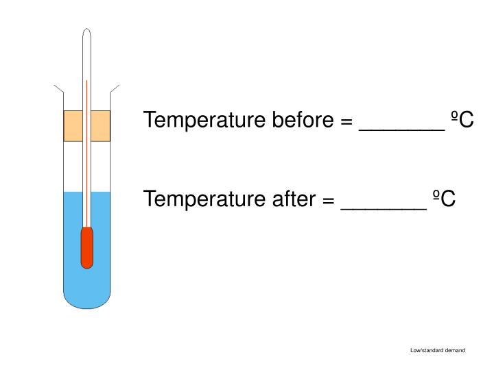 Temperature before = _______