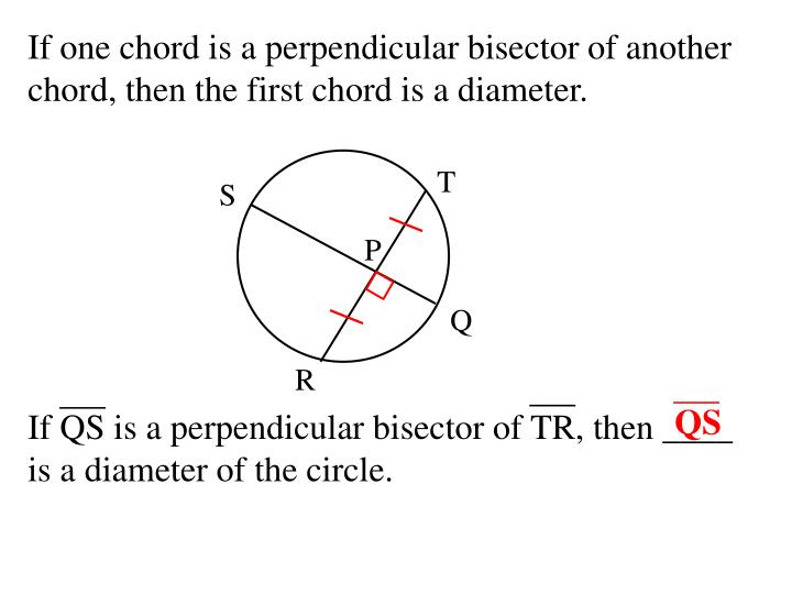 If one chord is a perpendicular bisector of another