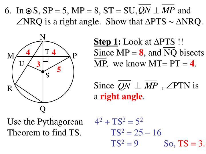 In    S, SP = 5, MP = 8, ST = SU,