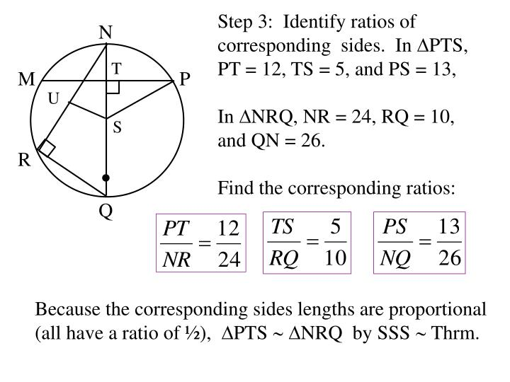 Step 3:  Identify ratios of