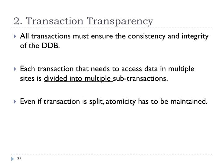 2. Transaction Transparency