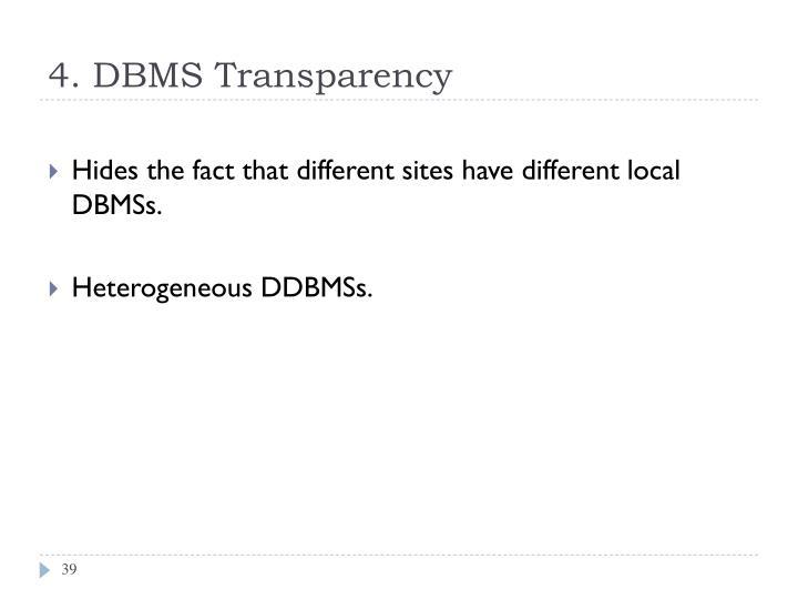 4. DBMS Transparency