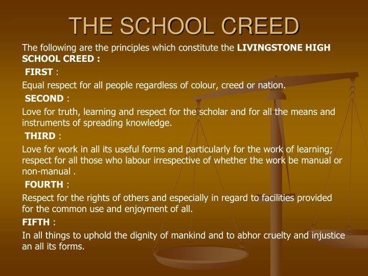 The school creed