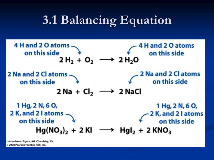 3.1 Balancing Equation