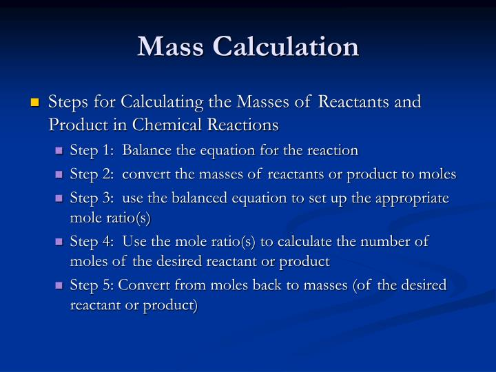 Mass Calculation