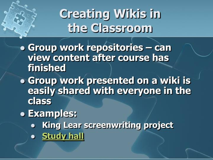 Creating Wikis in