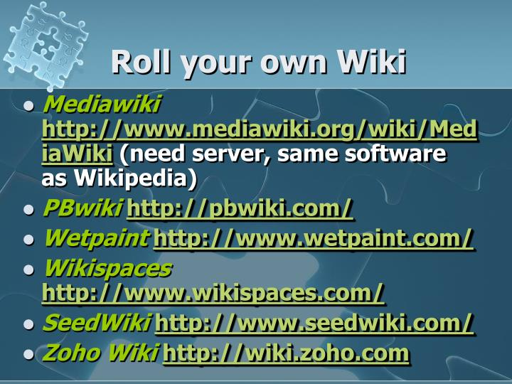 Roll your own Wiki