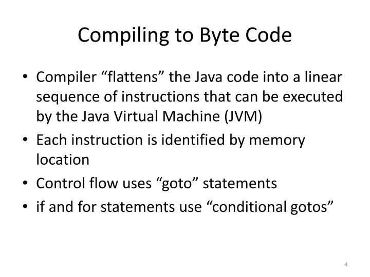 Compiling to Byte Code
