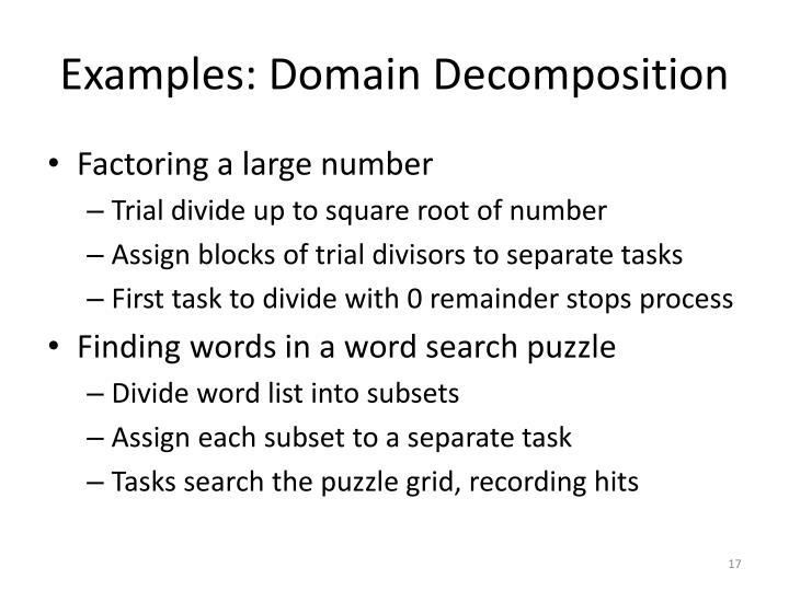 Examples: Domain Decomposition