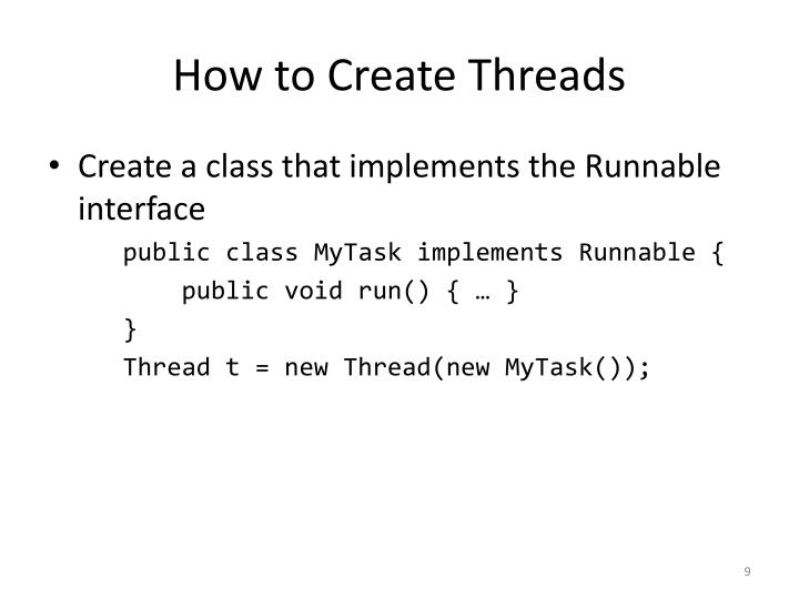How to Create Threads