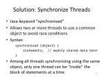 solution synchronize threads