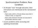 synchronization problem race condition