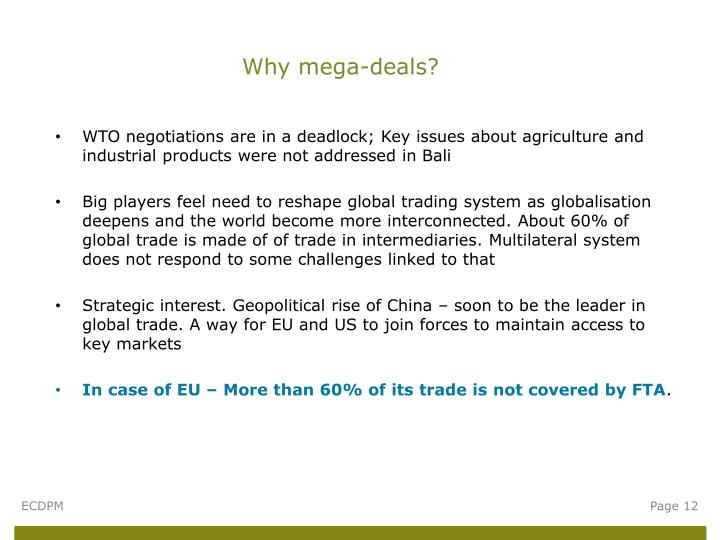 Why mega-deals?