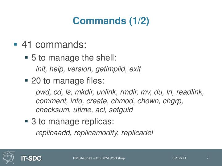 Commands (1/2)