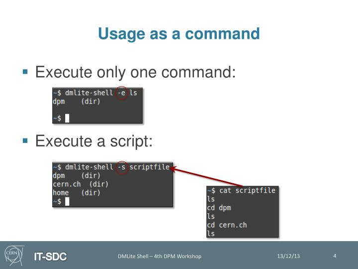 Usage as a command