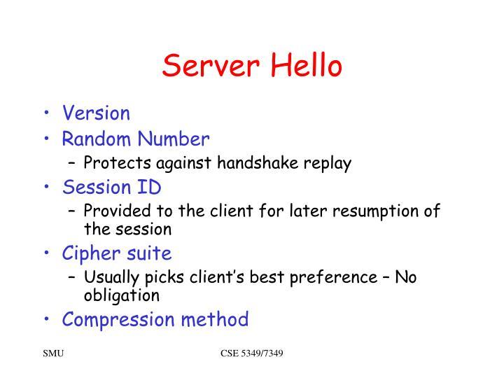 Server Hello
