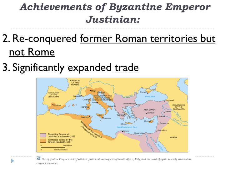 the goals and contributions of justinian to the byzantine empire Global regents review packet number three - page 1 of 19 this is global regents review packet number three the topics of study in this packet are.