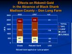 effects on ridomil gold in the absence of black shank madison county don long farm