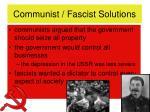 communist fascist solutions