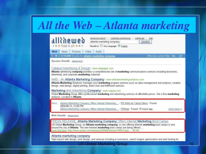 All the Web – Atlanta marketing