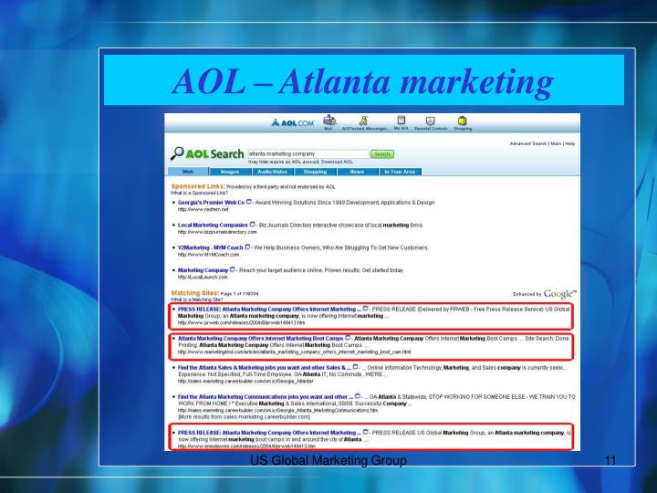 AOL – Atlanta marketing
